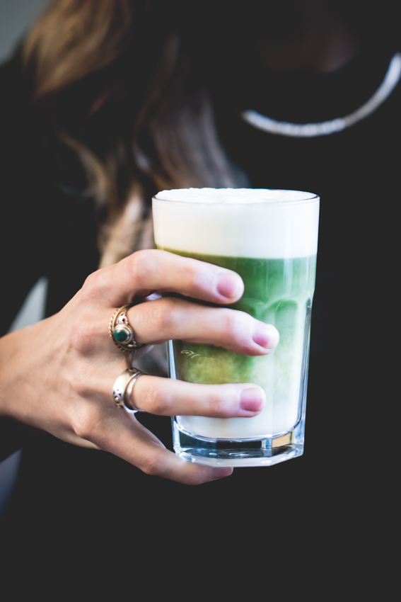 Amsterdam - Vegan - Vegabond - vegan lunchroom - vegan restaurant - plant based - Matcha Latte