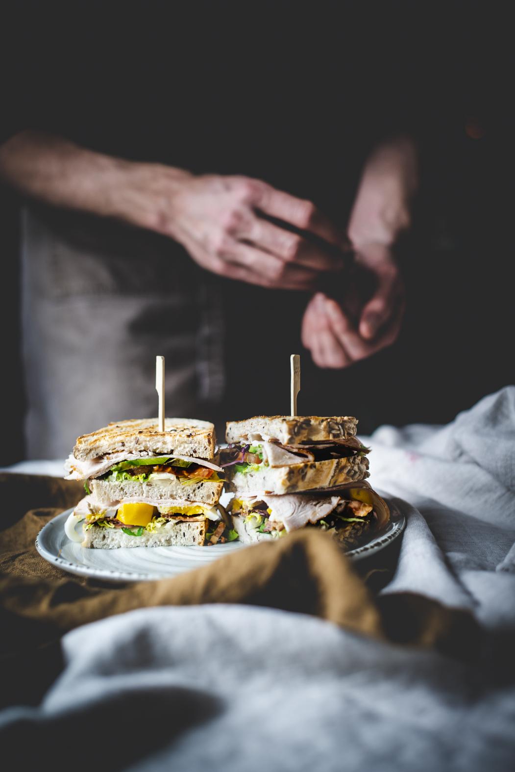 Van Doorn & Doorn- Club Sandwich - Stefanie Spoelder Food Photography Overijssel Delden Twente Nederland